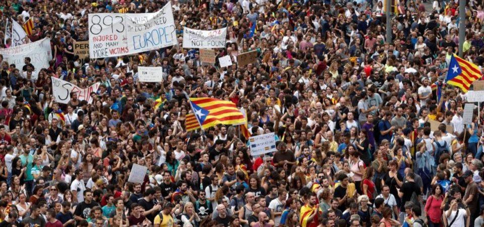catalunha greve barcelona