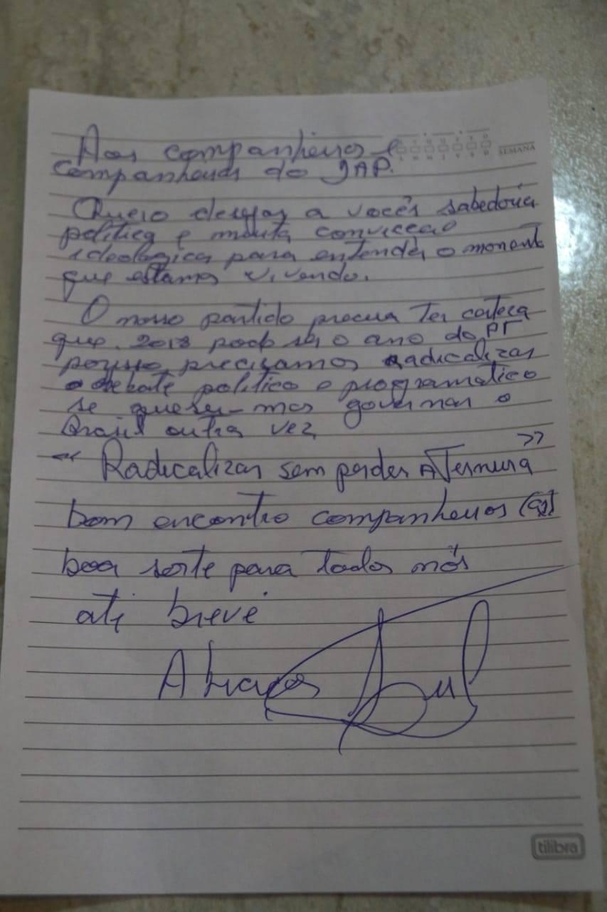 Carta de Lula ao Encontro do DAP