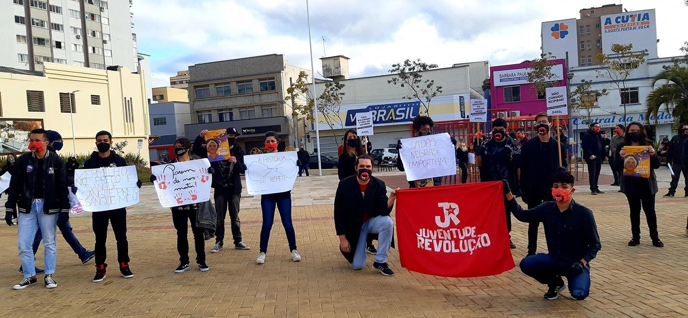 Lajes Santa Catarina teve manifestação na Praça