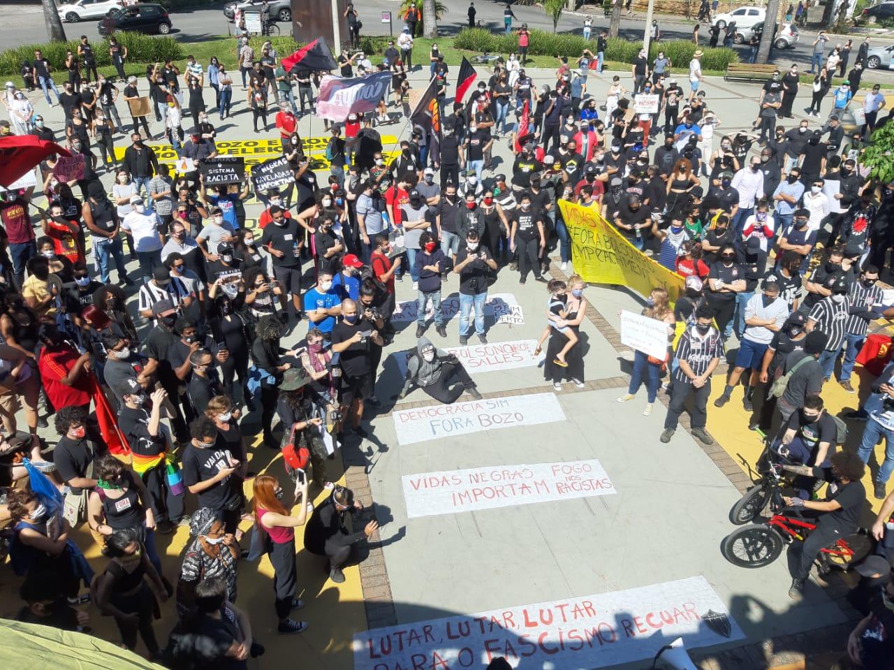 Concentração da manifestação em Belo Horizonte