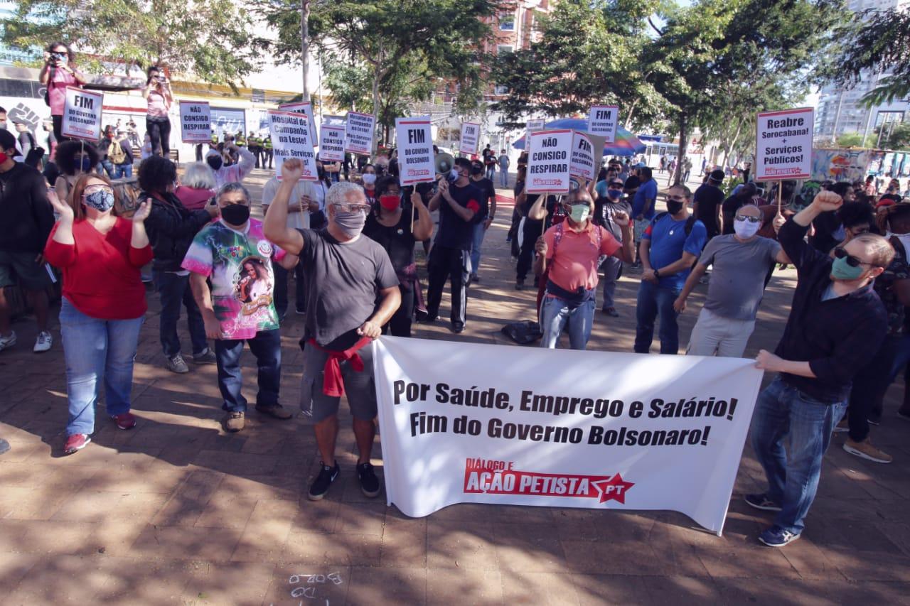 Coluna do Diálogo e Ação Petista em São Paulo, no Largo da Batata