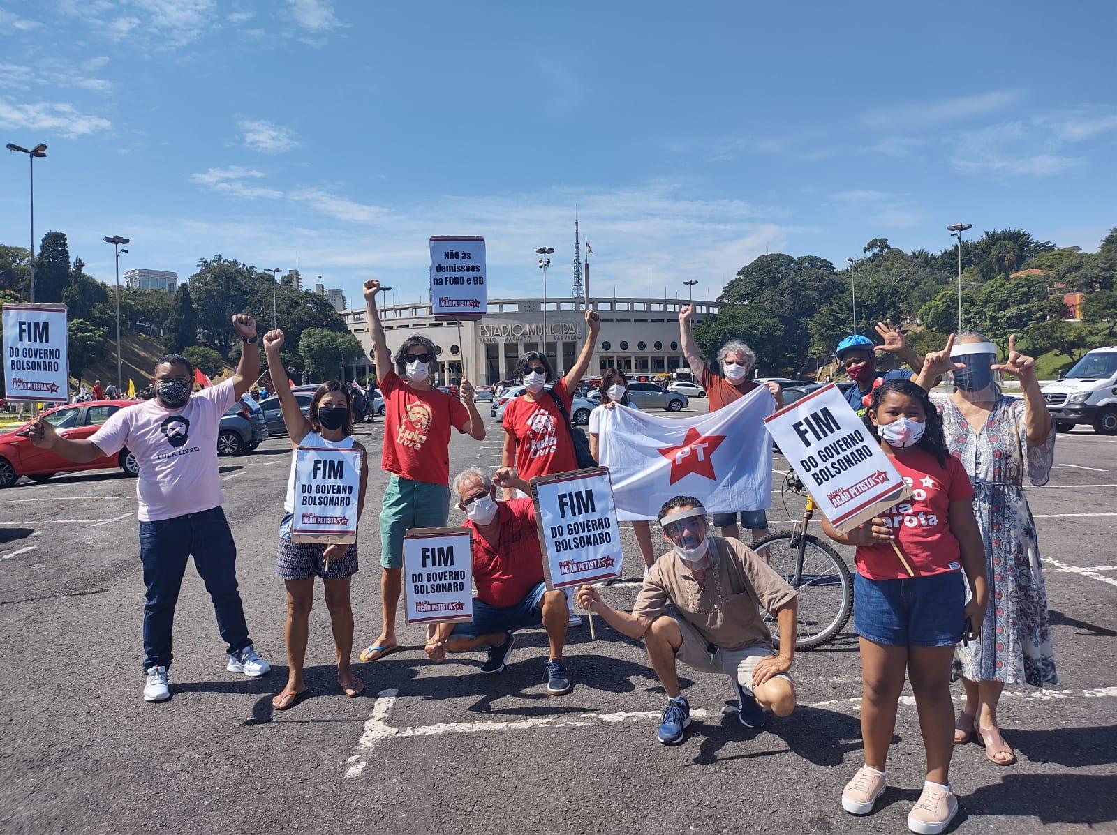 Militantes do DAP em São Paulo se concentram no Pacaembú