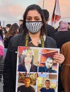 Ahlam Odeh em manifestação